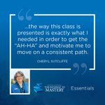 Are you in need of some motivation to get you moving on the right track with your business? The Pathway to Mastery—Essentials was exactly the boost Cheryl Sutcliffe needed. https://t.co/m6Ll2J26KN
