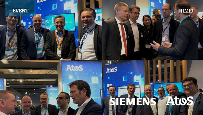 It was great to have our Siemens partners visiting our Atos booth at #MindSphere...