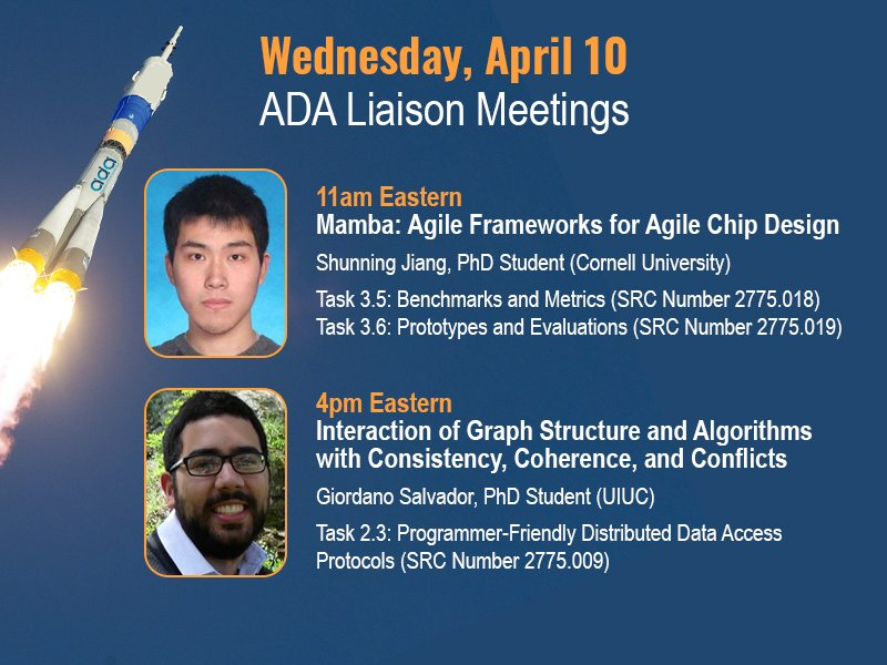 All ADA sponsors and researchers are invited to this week's liaison meetings. Complete info at https://adacenter.org/index.php/liaison-meetings …