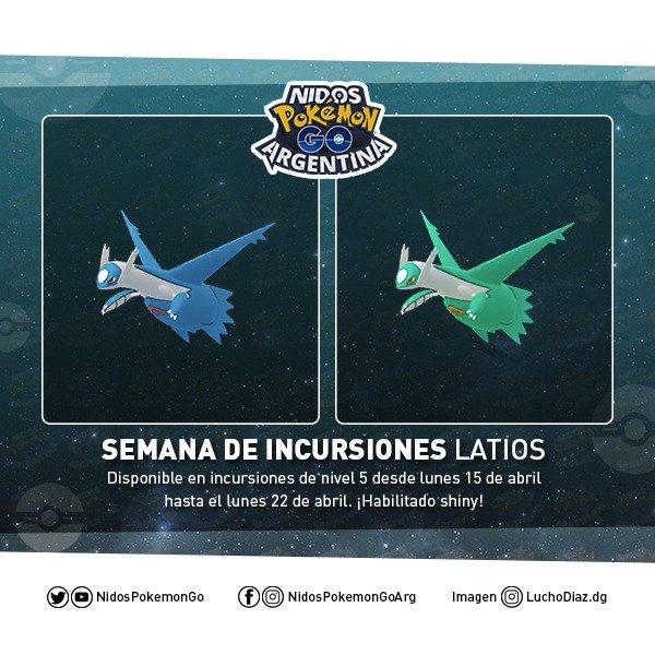 Imagen de Latios normal y shiny hecho por Nidos Pokémon GO Argentina