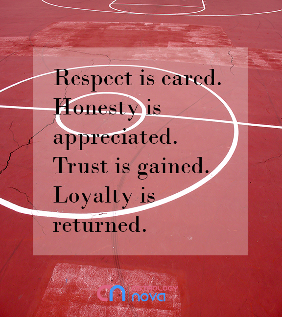 Respect, Honesty, Trust, Loyalty. That is all! #astrology #starsigns #leadership