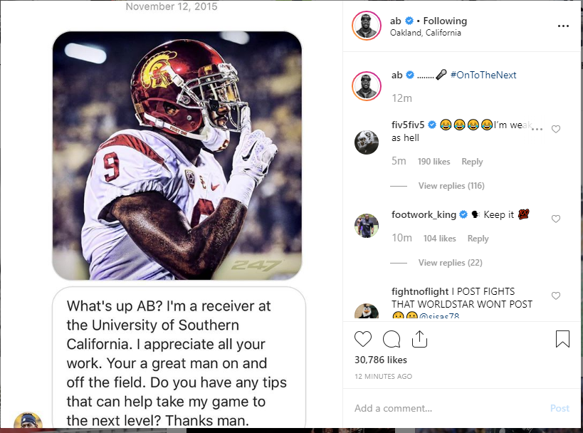 Image result for juju dm to antonio brown