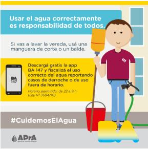 ¿Sabías que ahora podés reportar el uso incorrecto del agua en tu barrio a través de la app BA 147?   👉🏼Descargala gratis en Google Play o App Store: http://bit.ly/2ceJUxG.   #CuidemosElAgua 💧 entre todos los vecinos.