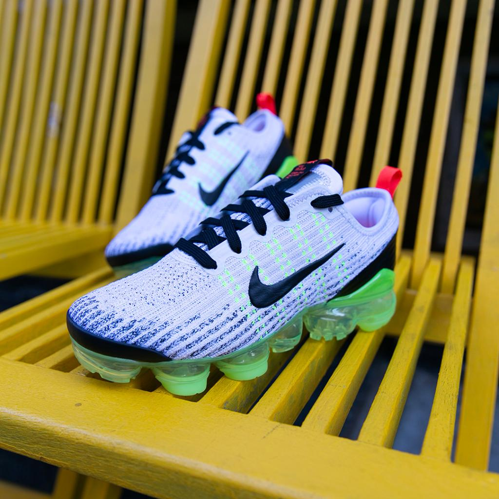 The next evolution. The new White/Black/Volt Nike VaporMax