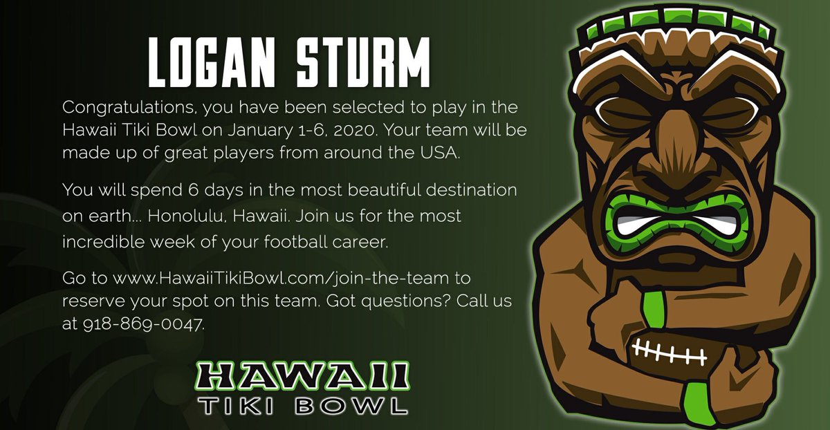 Honored to be invited to play in the Hawaii Tiki Bowl! @HawaiiTikiBowl