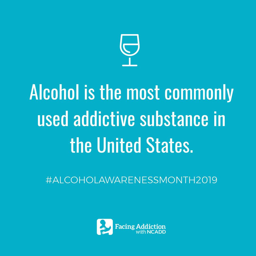 We're joining @FacingAddiction for #AlcoholAwarenessMonth2019 to help increase awareness and reduce the stigma associated with alcohol addiction. For more information, visit https://t.co/KfvZGYqj5M. https://t.co/YpgbeWsJJs