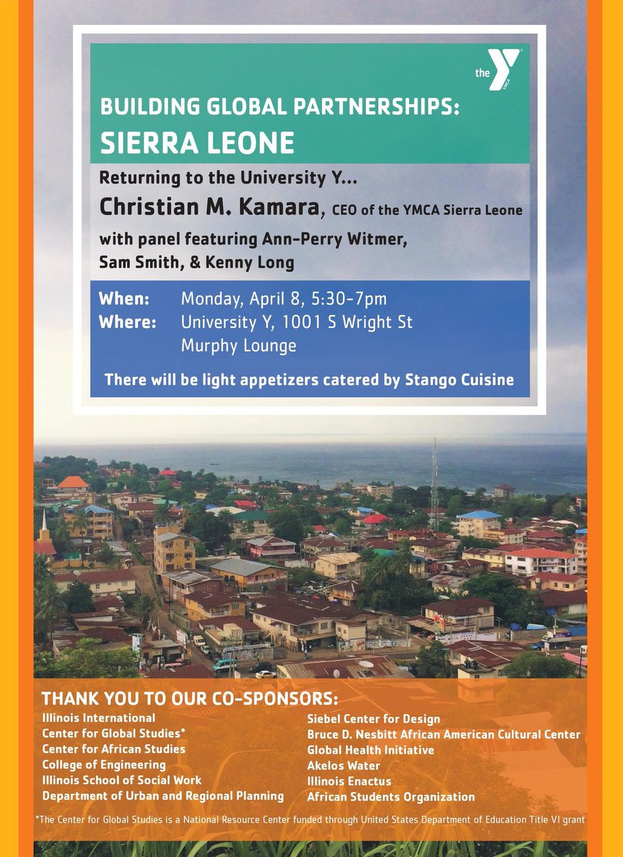 Building Global Partnerships: Sierra Leone...today at 5:30pm!