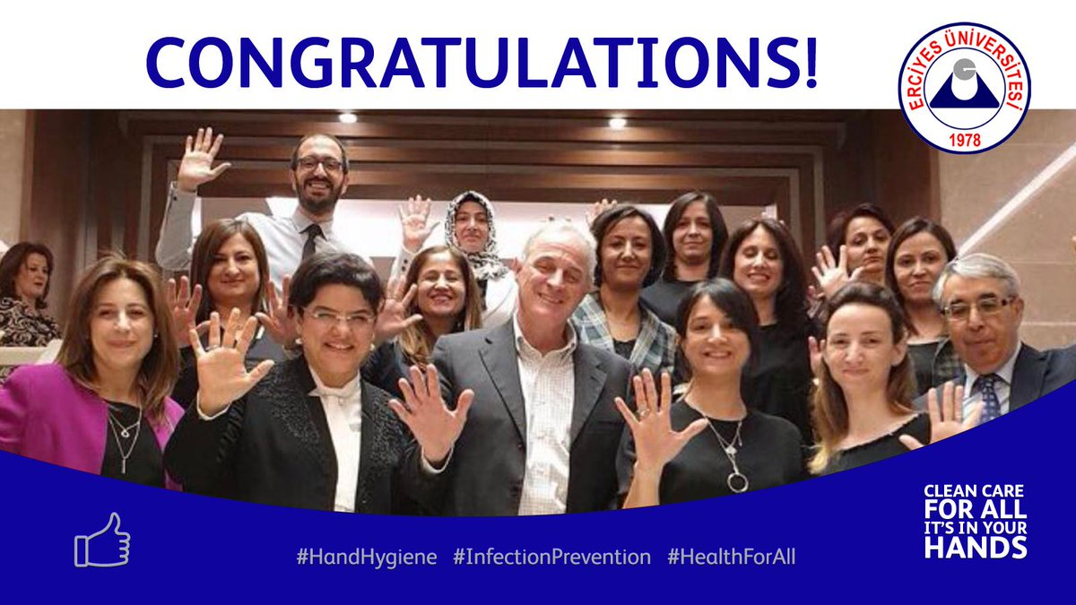Congratulations to Erciyes University, winners of the European Hand Hygiene Excellence Award 2019! It is wonderful that you have been recognized for your outstanding leadership in #handhygiene. We are proud to have worked with such an inspirational facility. Very well deserved!