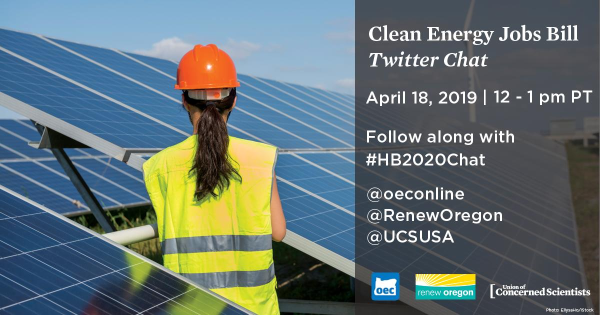 Oregon Clean Energy Jobs Bill Twitter Chat