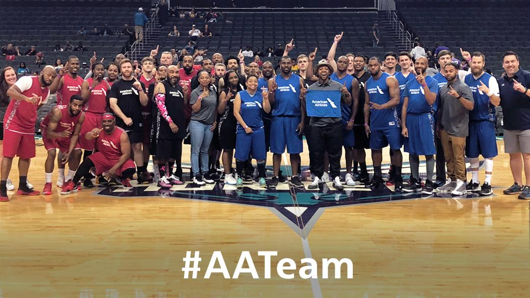 There may be a final tonight, but our #AATeam is number ☝🏽 after competing in yesterday's Hoops for Heroes basketball tournament in Charlotte benefiting @VetBridgeHome! 🏀🏆