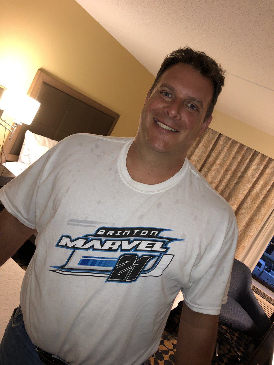 Our new @RaceTrackEngrng Dir of Innovation & Technology finally gets to go to the racetrack and he shows up wearing @brintonmarvel gear...  He's gonna work out just fine! #BigDave #DaveNumber3of4atRTE