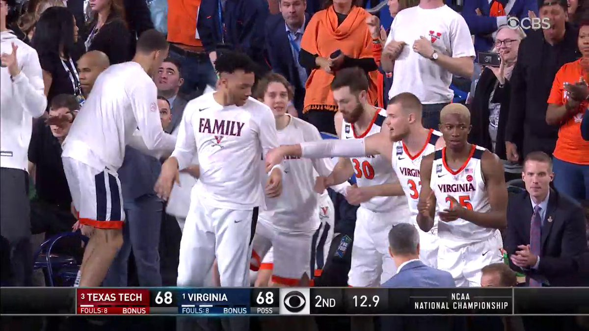 JEROME WITH THE FIND, AND WE'RE HEADED TO OT! #GoHoos #4to1 #MarchMadness