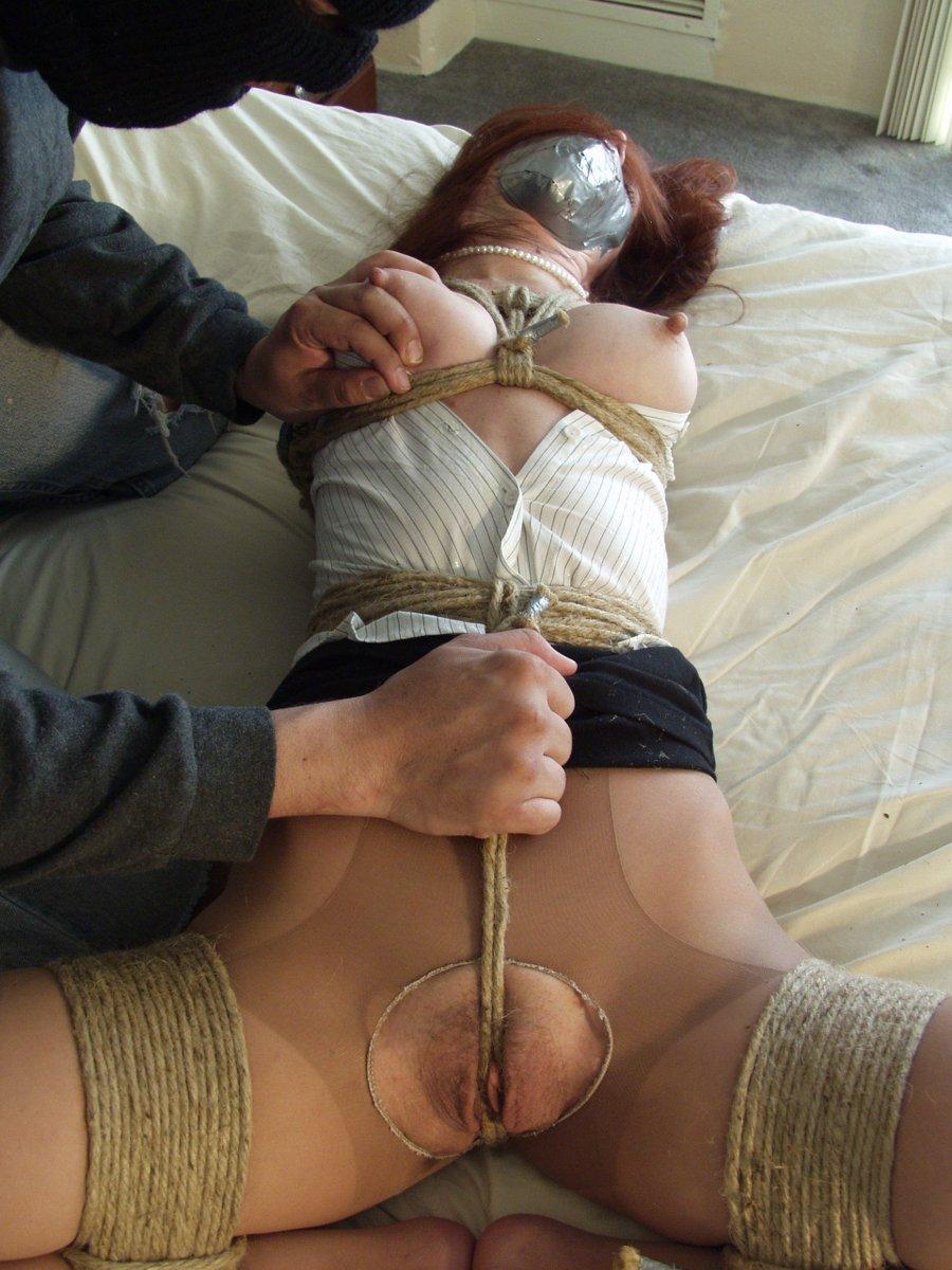 Self bondage with rope