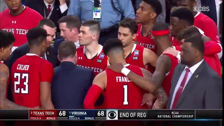 OVERTIME!!  @UVAMensHoops and @TexasTechMBB with 5 more minutes to decide the #NationalChampionship.  Get to CBS. RIGHT. NOW.
