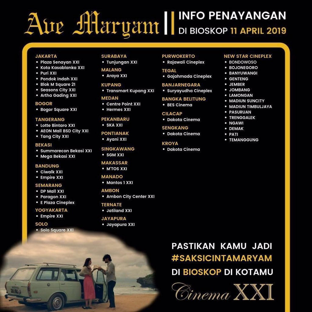 Info Penayangan Ave Maryam