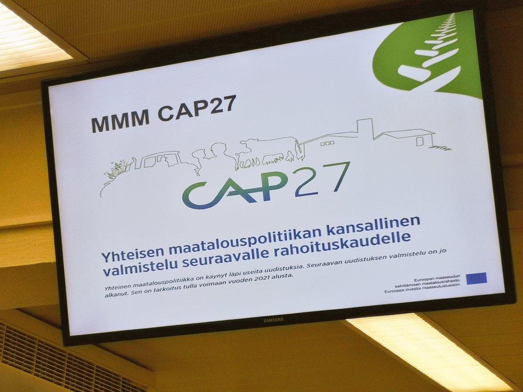 Alueellinen CAP-valmistelu on käynnissä. #CAP27