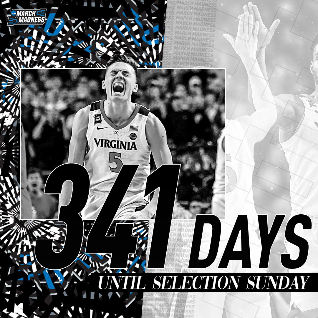 The countdown begins...  Only 341 days until #SelectionSunday!