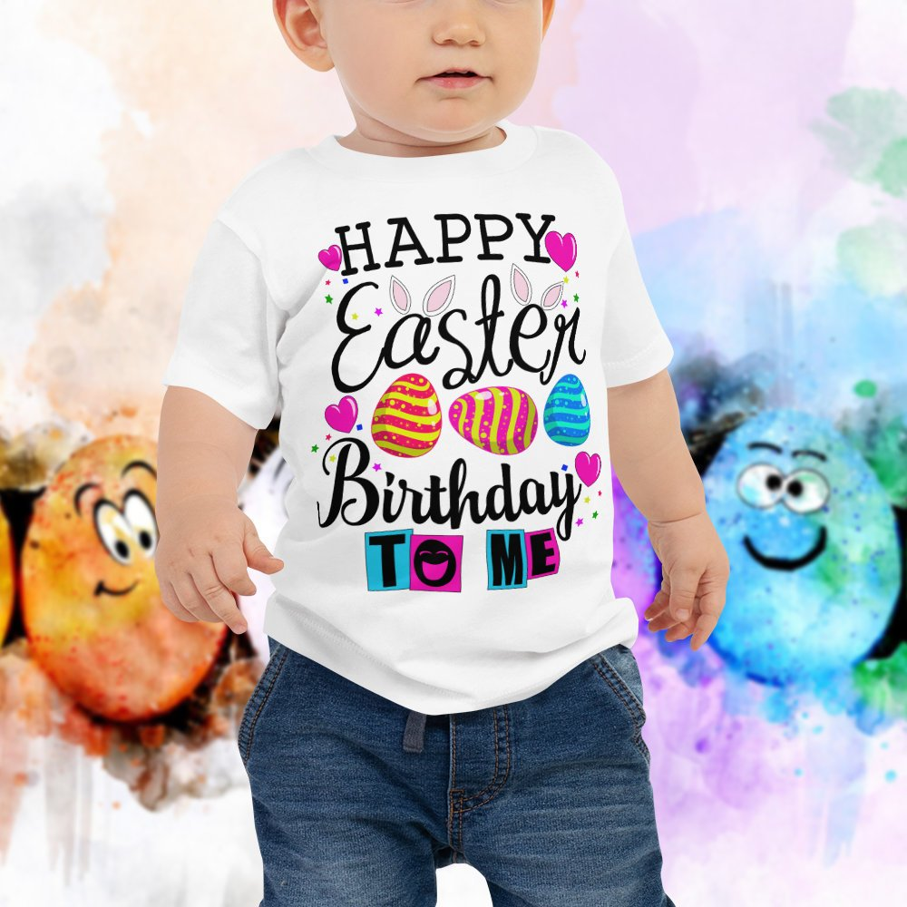 Baby Happy Easter Birthday To Me Shirt Toddler T Kids