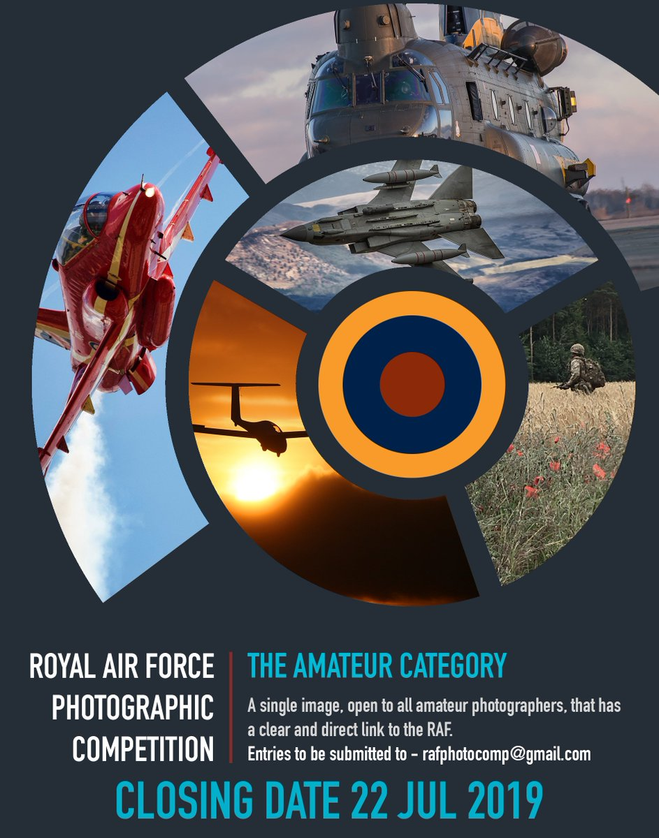 To mark the start of the 2019 RAF Photo Comp, we are giving away an RAF Photog morale patch, courtesy of the fine folks at http://www.terrane.co.uk. All we want is for you to comment on this post with an image you will look to enter into this years Amateur Category. THAT'S IT! 📸