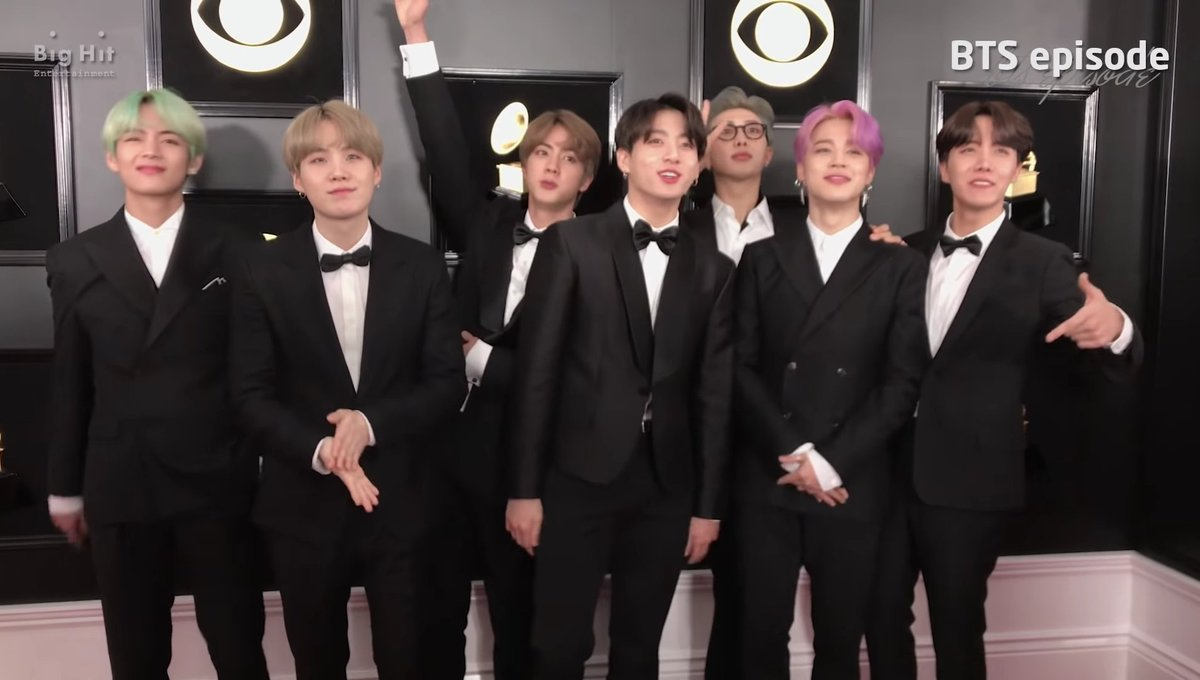 Look at them  one day they&#39;ll be on that stage winning a Grammy of their own! ~ L   #BTSxGrammys @BTS_twt<br>http://pic.twitter.com/TiC2pQjJVq