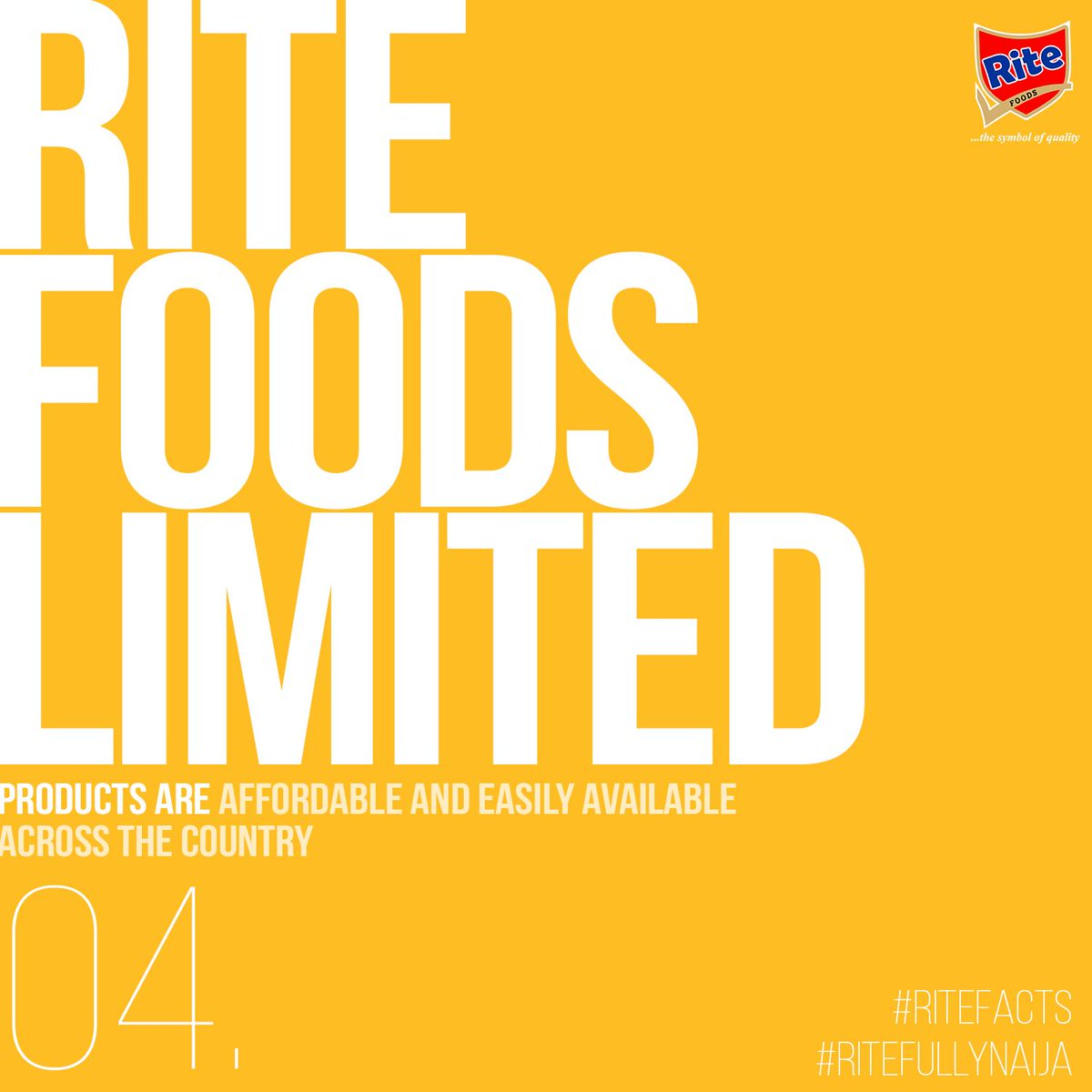 RiteFacts 04: Rite Foods Limited products are accessible and