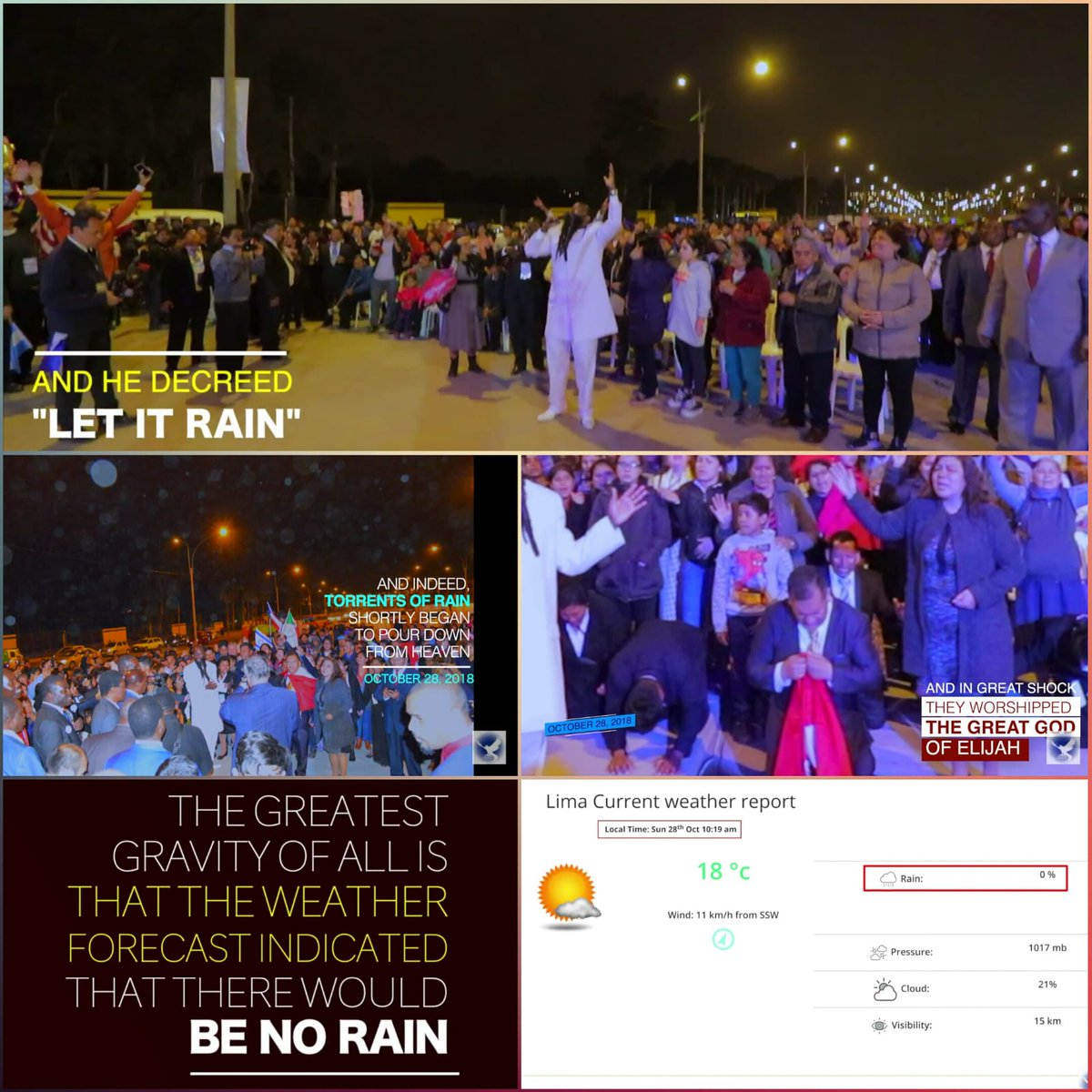 Look  at   Psalm 147:8 Who covers the heavens with clouds, Who provides rain for the earth, Who makes grass to grow on the mountains. The GOD of the Mightiest Prophets does all this  #TheHeavenlyVisitations