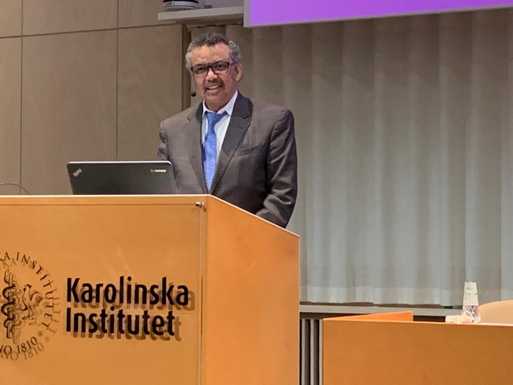 The way we communicate science is just as important as the science itself. In our world of fake news and alternative facts, we must find creative ways of communicating evidence in a way that resonates with people - @DrTedros in his speech at @karolinskainst in #Sweden 🇸🇪