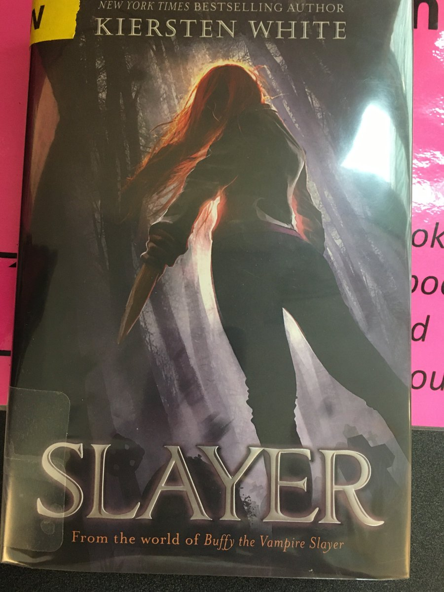 Staff pick of the week - Slayer by Kiersten White. Set in the world of Buffy the Vampire Slayer, but at The Watcher's Academy. We are introduced to a new Slayer who comes to terms with her new powers while struggling to fit into her Watcher family. <a target='_blank' href='http://search.twitter.com/search?q=YorktownReads'><a target='_blank' href='https://twitter.com/hashtag/YorktownReads?src=hash'>#YorktownReads</a></a> <a target='_blank' href='http://twitter.com/APSLibrarians'>@APSLibrarians</a> <a target='_blank' href='https://t.co/O5mAwTe7v3'>https://t.co/O5mAwTe7v3</a>