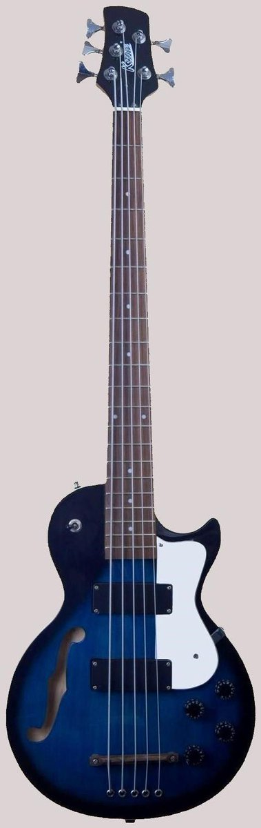 KTone chinese 5 string semi hollow Bass
