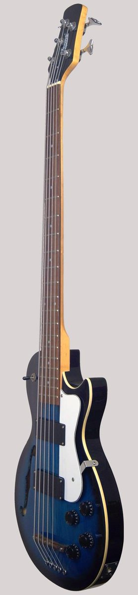 5 string semi acoustic bass guitar at Ukulele Corner
