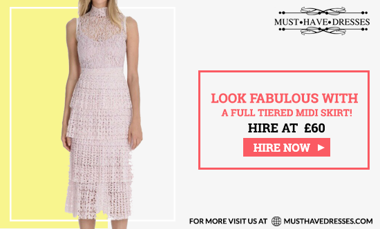 Look fabulous With a full tiered midi skirt and color matched sculpting slip. What are you waiting for? Hire Now in just £70.00 from Must Have Dresses! #classylook #specialevent #MHD #HireNow #Freedelivery #femininelook pic.twitter.com/jxcyFIHPuY