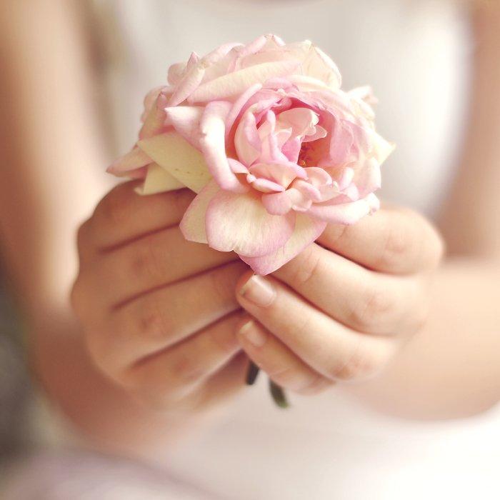 Картинки, цветы в руках открытка