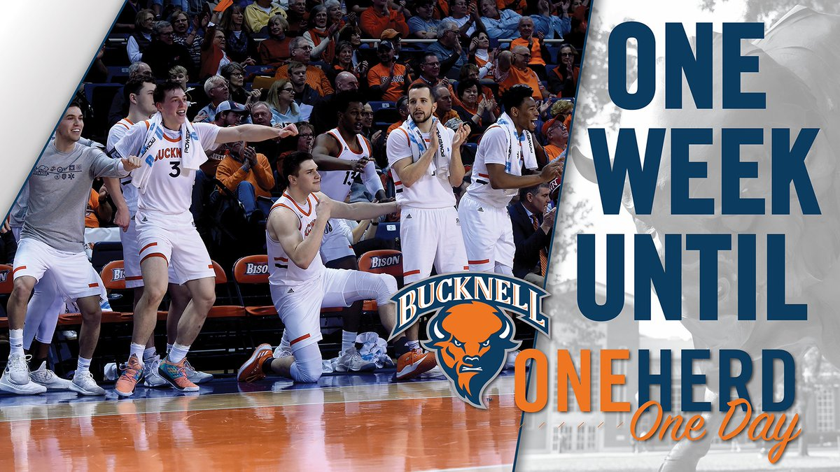 🚨ATTENTION, BISON NATION!🚨  Bucknell's 24-hour Athletics Giving Challenge is ONE week away!   http://bucknell.edu/OneHerdOneDay  #OneHerdOneDay