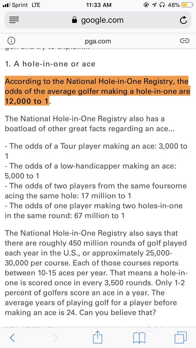 1 in 12 million odds