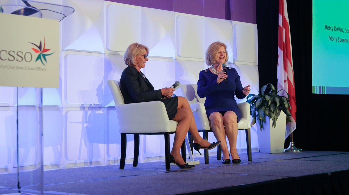 Special Education Chiefs To Devos Dont >> Betsy Devos On Twitter I Had A Fantastic Fireside Chat With