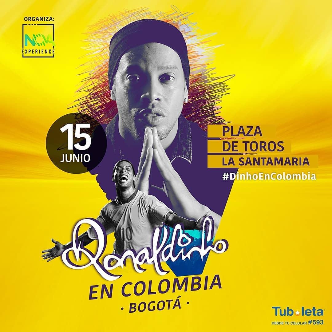 Feliz de una vez mas visitar Colombia, país que siempre me ha recibido con los brazos abiertos y al que le tengo mucha gratitud. Hasta allá! 🇨🇴 🤙🏾#DinhoEnColombia