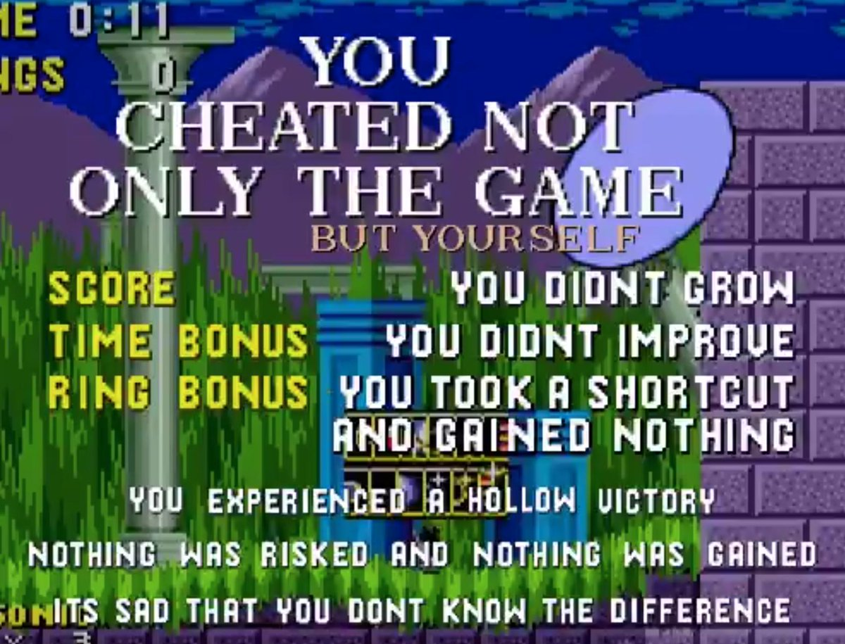 You cheated