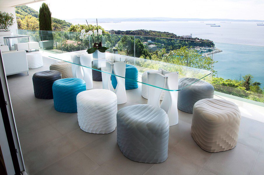 River Stones from our @TONONitalia collection enjoying a stunning view.  #europeanfurniture #sandlerseating