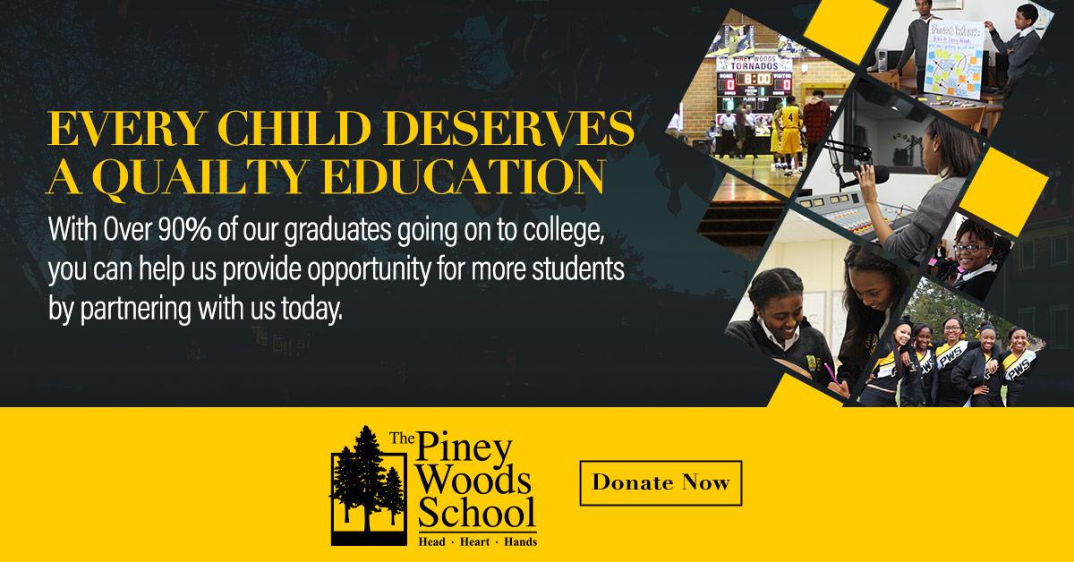 47f0110fa Help Piney Woods School continue to make a difference in the lives of young  students by making a donation today! ...