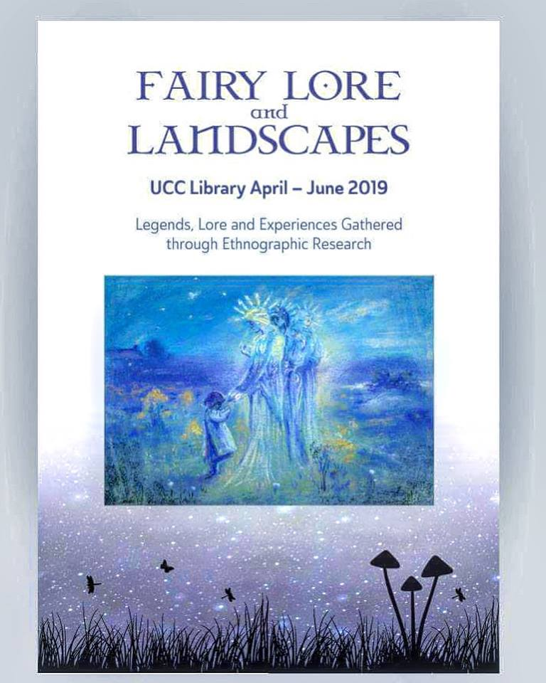 Fairy Lore & Landscapes #Exhibition Curated by @Jenny_Butler_ @UCC  @UCCLibrary Supported by @UCCDeptReligion Lecture by Prof. Diane Purkiss & opening by @corkcitycouncil Deputy @corklordmayor Cllr. Kieran McCarthy, 11 April ALL WELCOME! Info: https://www.facebook.com/events/2072517613045610/… #fairylands