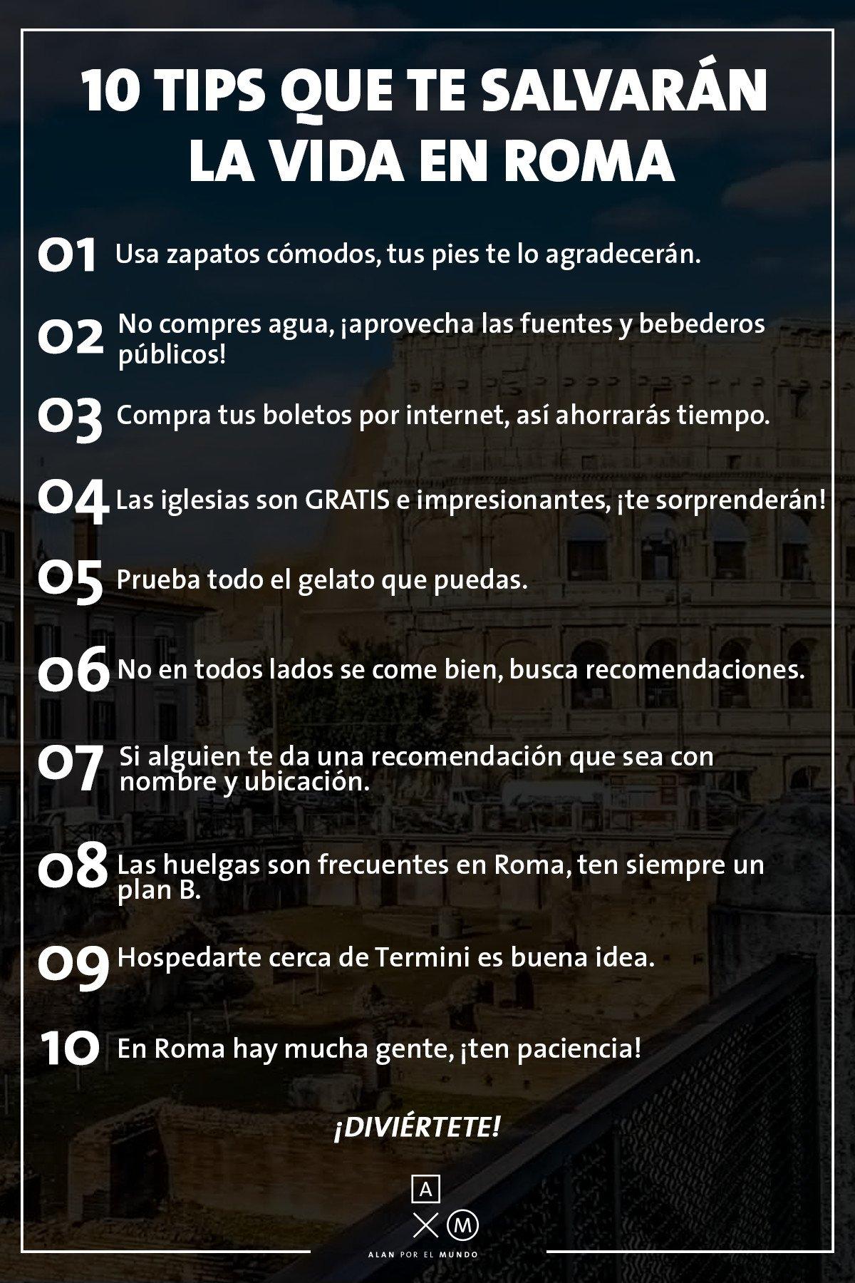 Alan Por El Mundo On Twitter Les Comparto Tipsaxm Que Les Ayudará En Su Viaje A Roma Axmroma