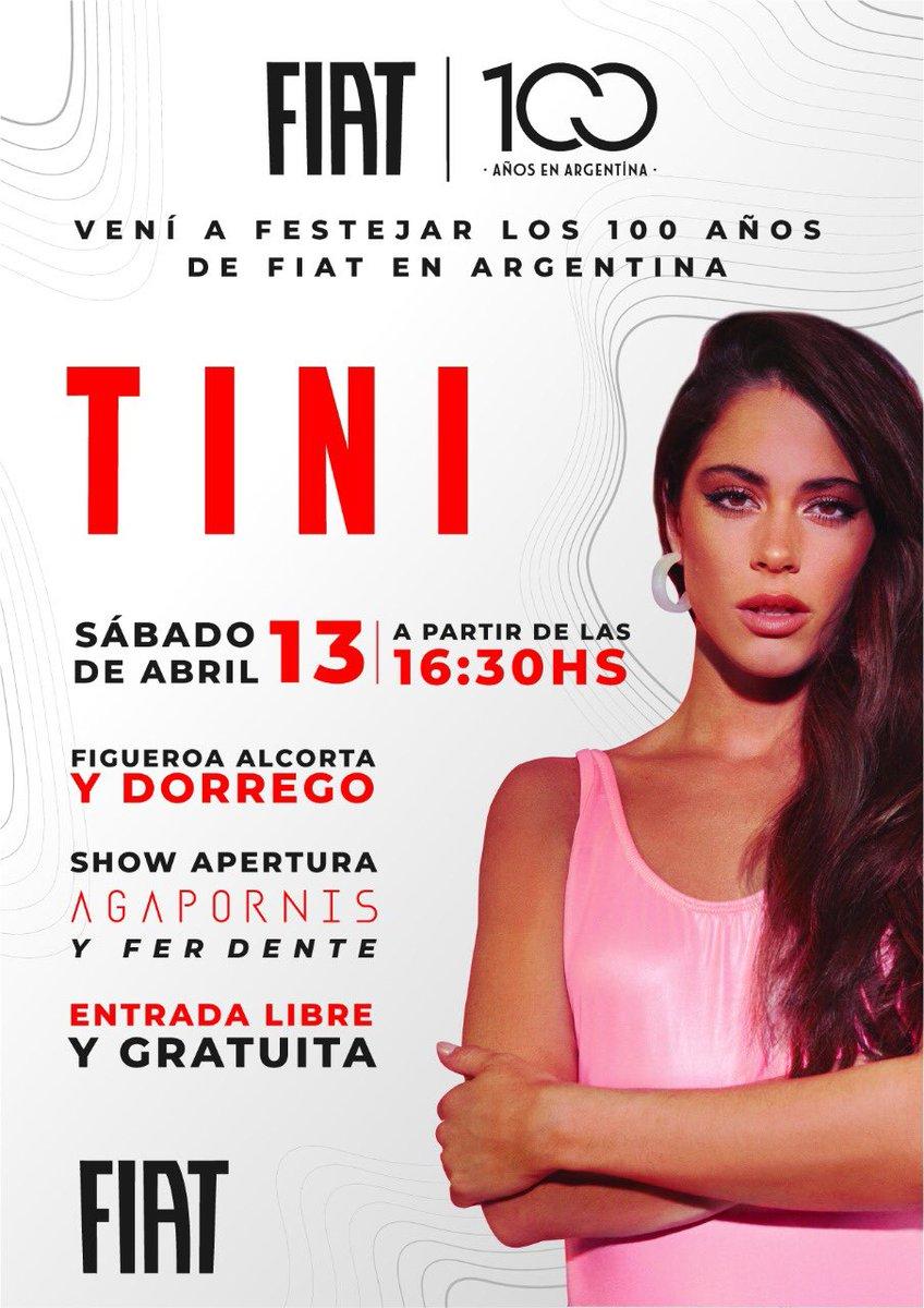 Sábado !!! @fiatargentina @TiniStoessel https://t.co/J8smfM3xdC