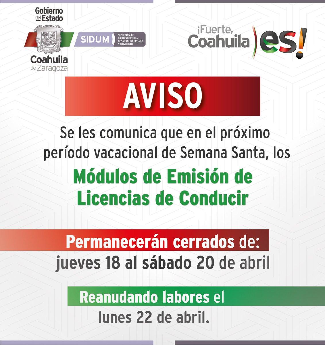 Administración Fiscal De Coahuila On Twitter Aviso La