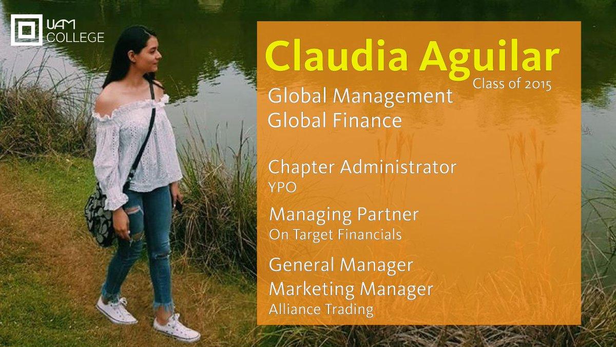 Claudia Aguilar, Class of 2015  1 of 300+ Transformational Alumni  https://t.co/s8kUj5dAVm https://t.co/AZ74kxC8F2