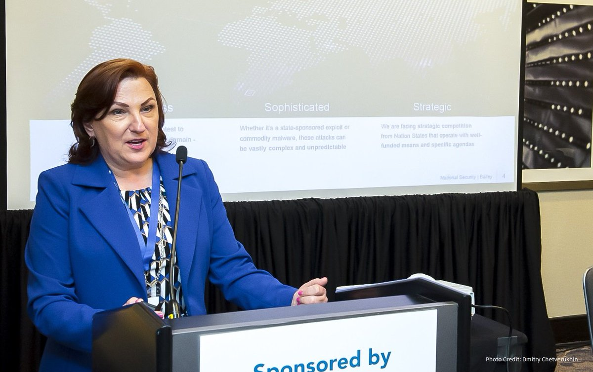 NSA's Deputy National Manager for National Security Systems Marianne Bailey was among the cyber experts at the April 2019 Future of Technology Summit yesterday in Washington, D.C. Image: NSA
