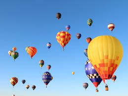 Image result for hot air balloons in the sky