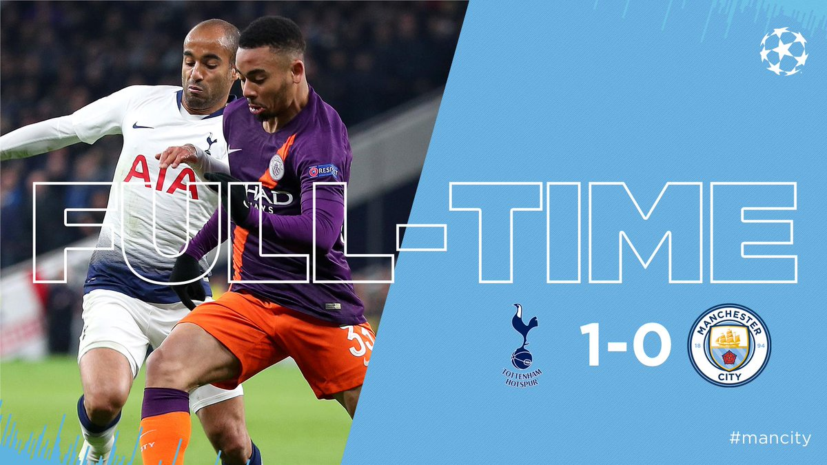 FULL-TIME | Down but not out.  Recover, regroup and go again in the second leg.  ⚪️ 1-0 🔵 #thfcvcity #mancity