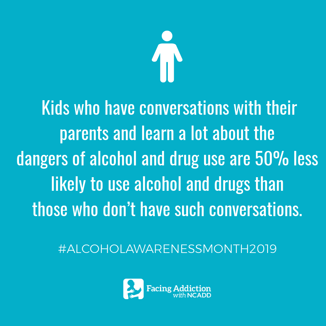 We need to have a conversation about alcohol with our children; their futures depend on it.   RT this post and help us spread the word during #AlcoholAwarenessMonth2019! https://t.co/3PS3t771Zq