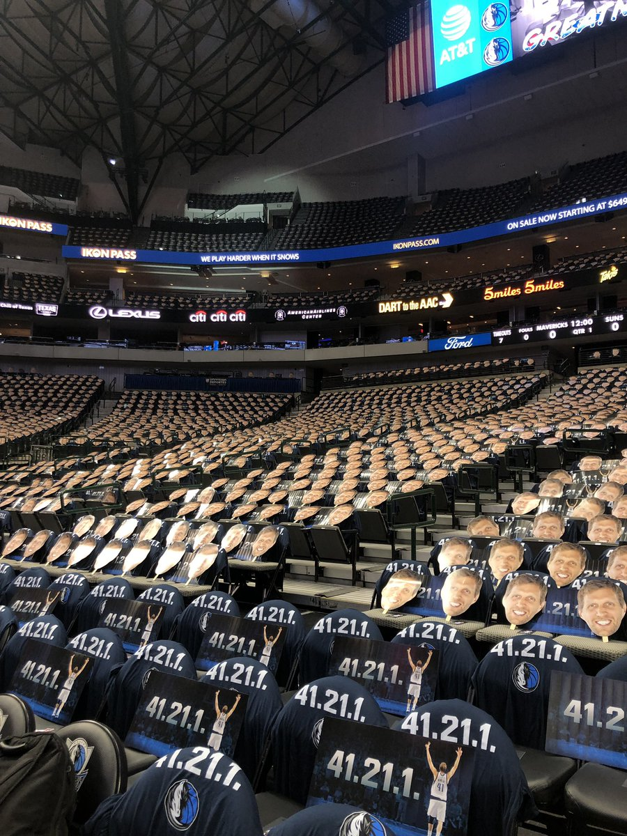 every seat has dirk heads and 41.21.1 shirts tonight