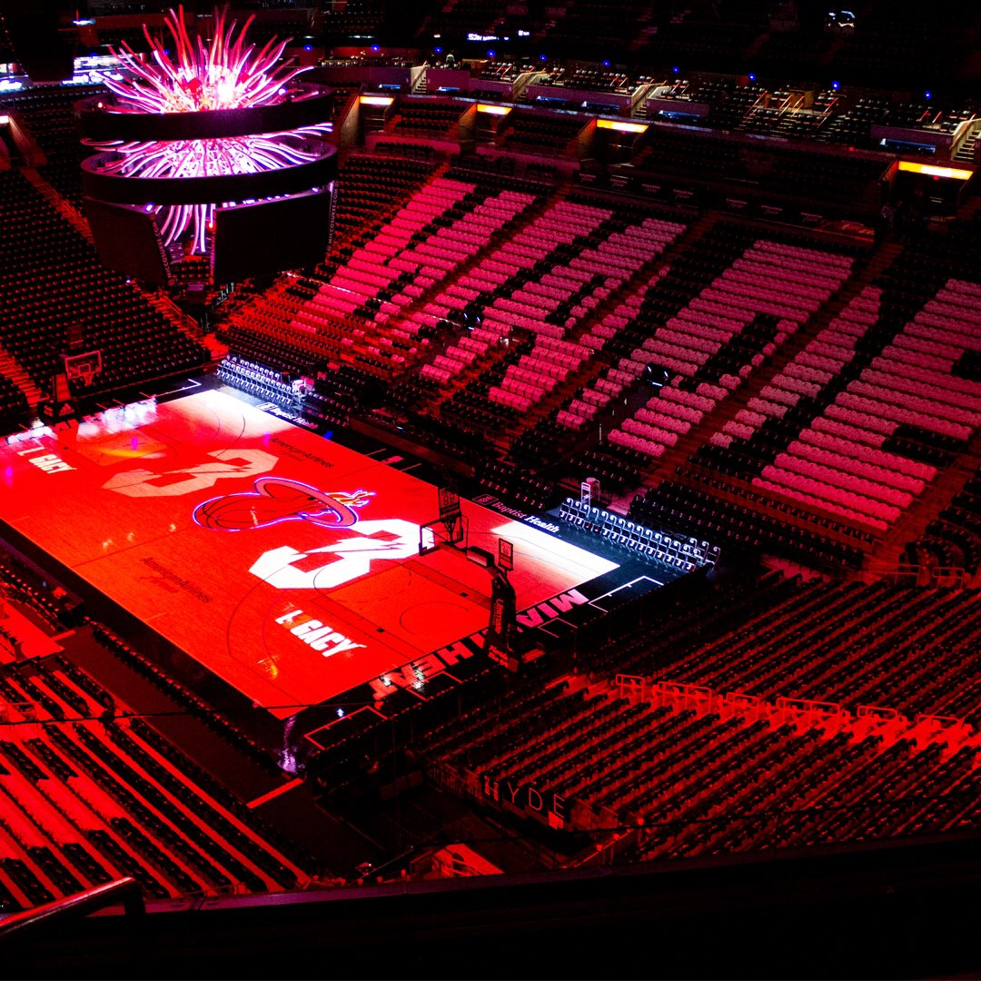 """""""Oh that's fire."""" - @DwyaneWade Our stage is set for #OneLastDance."""